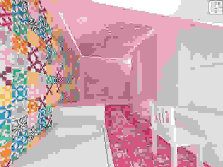 Habitaciones para niños de estilo moderno de IDEALNIE Pracownia Projektowa Moderno