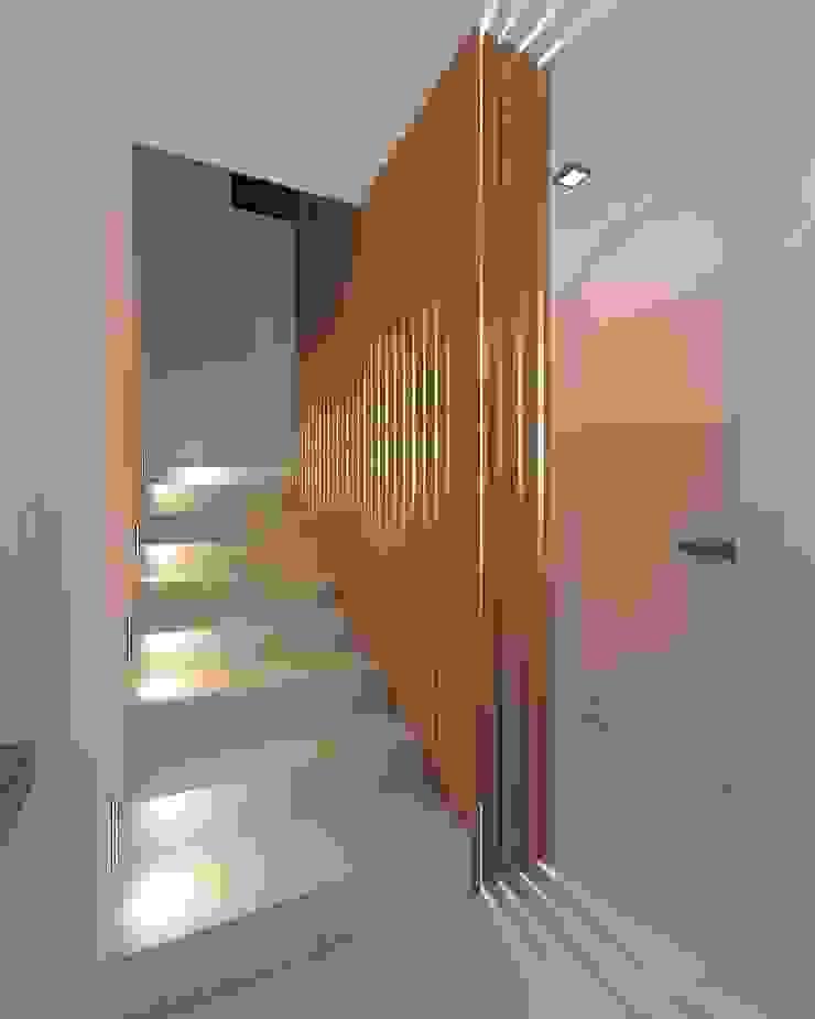 Minimalist corridor, hallway & stairs by A-partmentdesign studio Minimalist Wood Wood effect