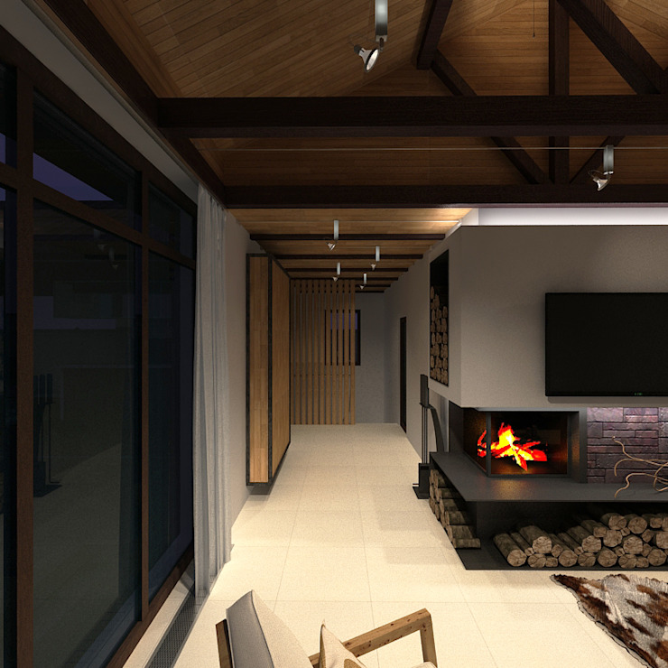 Minimalist living room by A-partmentdesign studio Minimalist Tiles