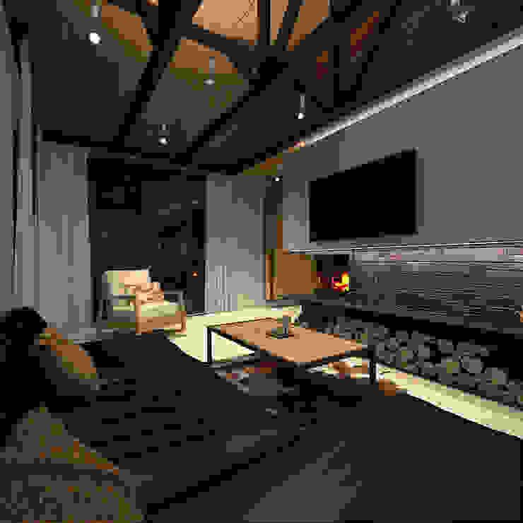Minimalist living room by A-partmentdesign studio Minimalist Engineered Wood Transparent