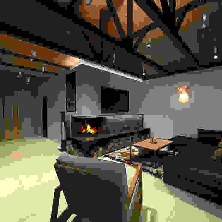 A-partmentdesign studio의  거실, 미니멀 타일