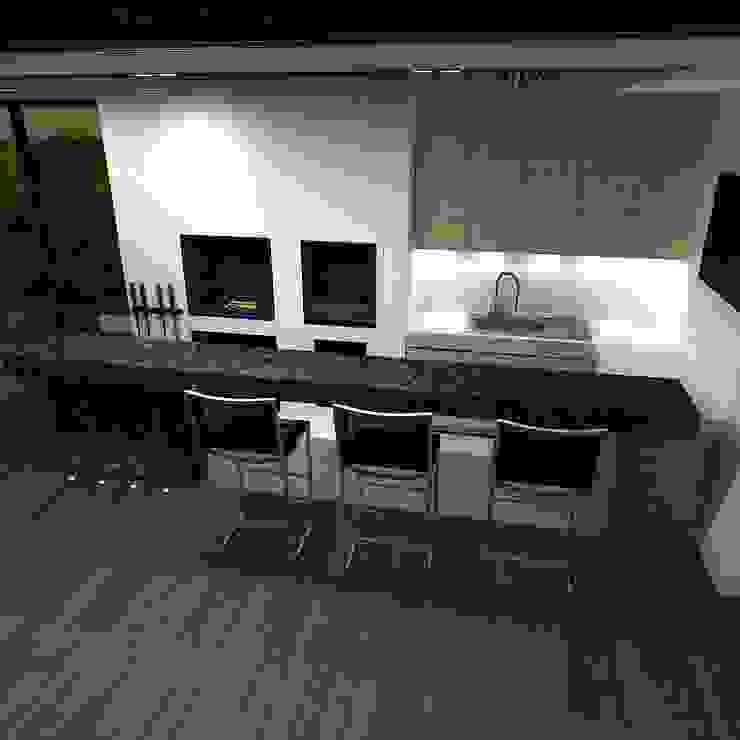 Minimalist dining room by A-partmentdesign studio Minimalist Engineered Wood Transparent