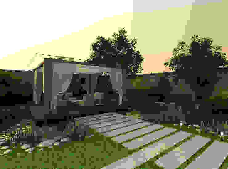 A-partmentdesign studio Vườn phong cách tối giản Gỗ thiết kế White