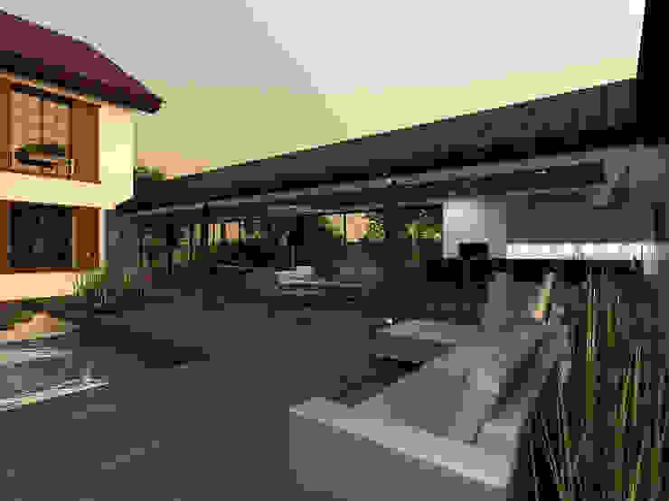 Minimalist pool by A-partmentdesign studio Minimalist Solid Wood Multicolored