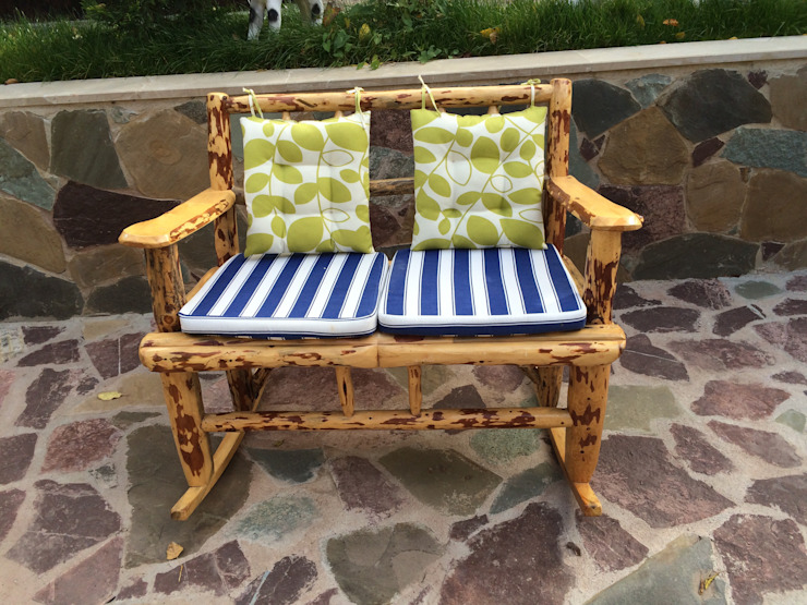Sallanan Bank (rocking bench) Coşkun Ahşap Dekorasyon Rustik Ahşap Ahşap rengi