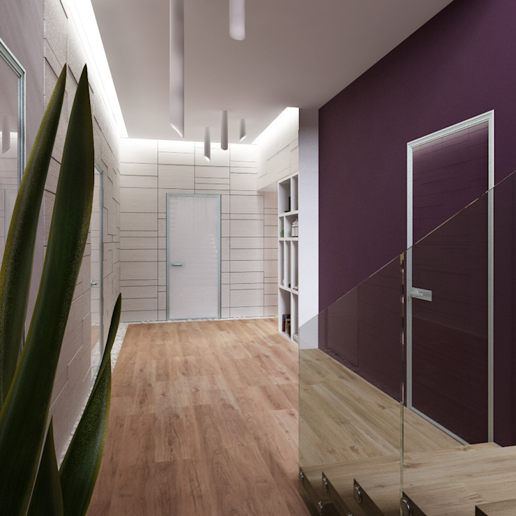 Minimalist corridor, hallway & stairs by A-partmentdesign studio Minimalist Engineered Wood Transparent