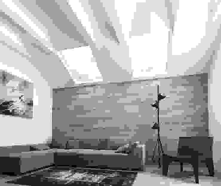 Paredes  por A-partmentdesign studio , Minimalista Derivados de madeira Transparente