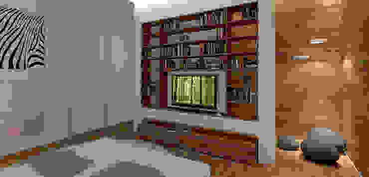 Minimalist bedroom by A-partmentdesign studio Minimalist Engineered Wood Transparent