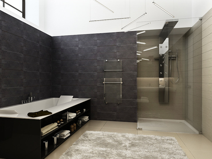 Minimalist style bathroom by A-partmentdesign studio Minimalist Ceramic