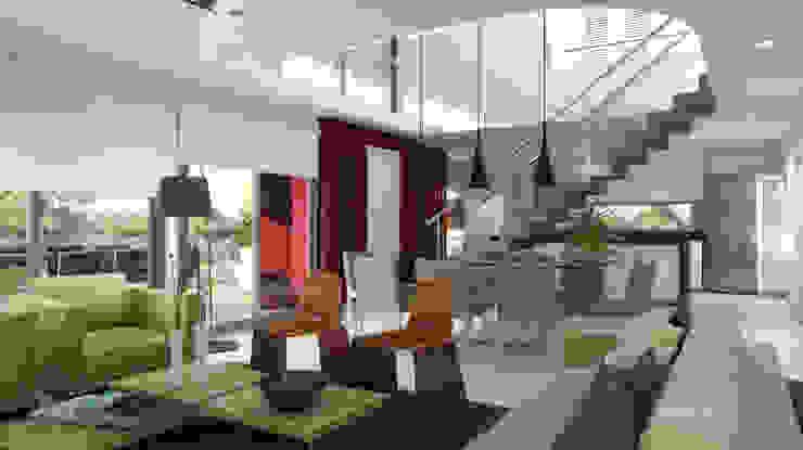 CASA EN EL CANTON Livings modernos: Ideas, imágenes y decoración de Muras Oficina de Arquitectura Moderno