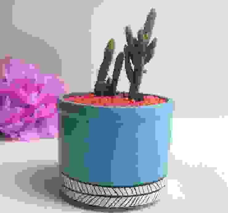 Matero azul de Azul Bondí Rústico Cerámica