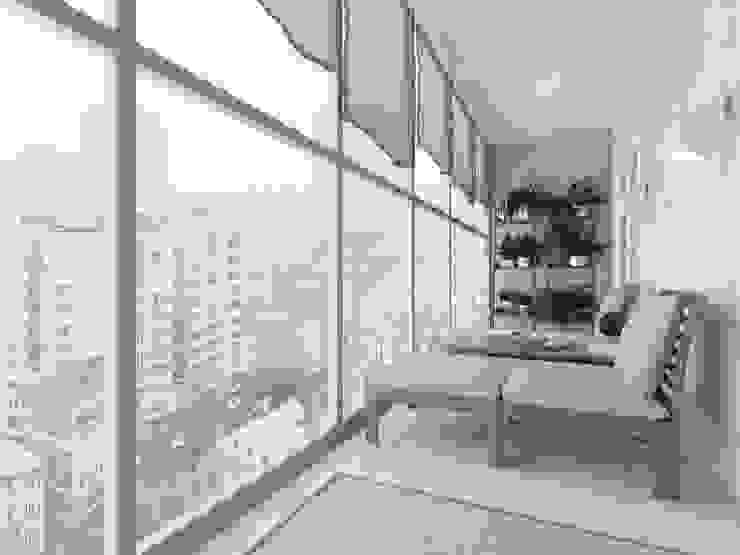 بلكونة أو شرفة تنفيذ OK Interior Design,