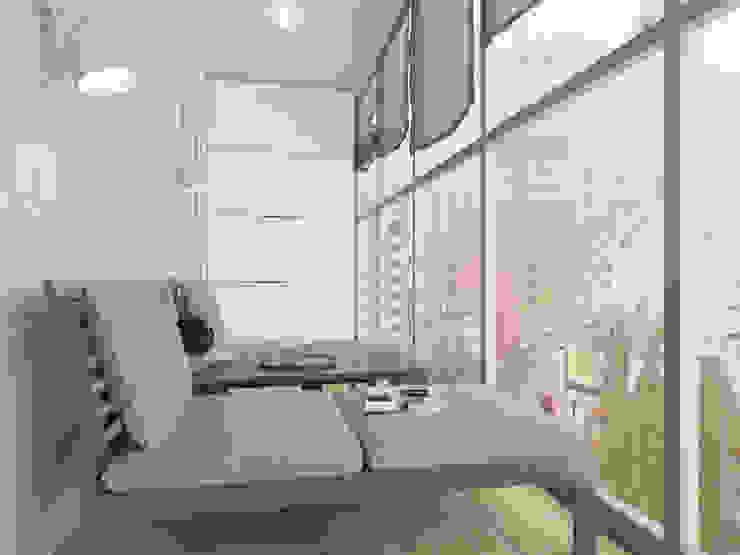 Визуализация: квартира в Петербурге Балкон и терраса в стиле модерн от OK Interior Design Модерн