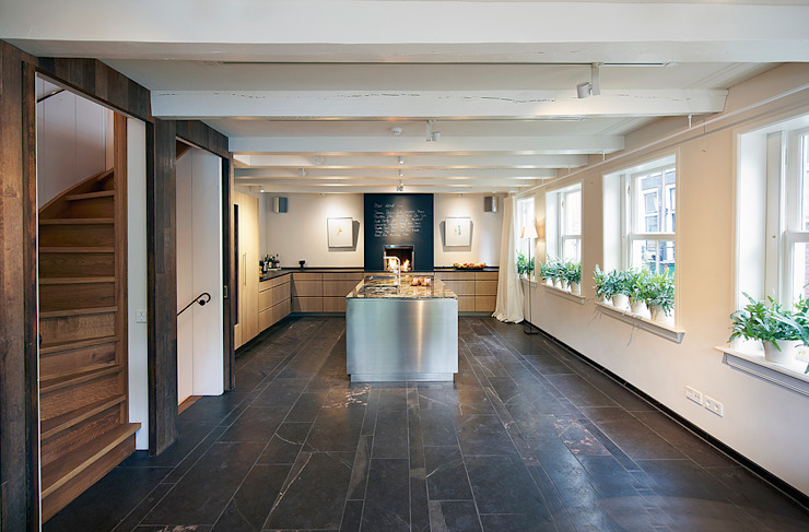 Herengracht bel-étage:  Keuken door Architectenbureau Vroom, Eclectisch