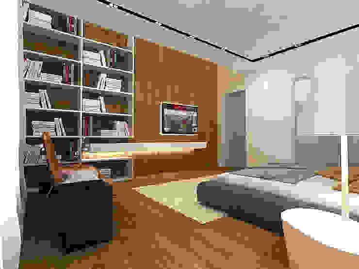 Minimalistische Schlafzimmer von A-partmentdesign studio Minimalistisch Holz Holznachbildung