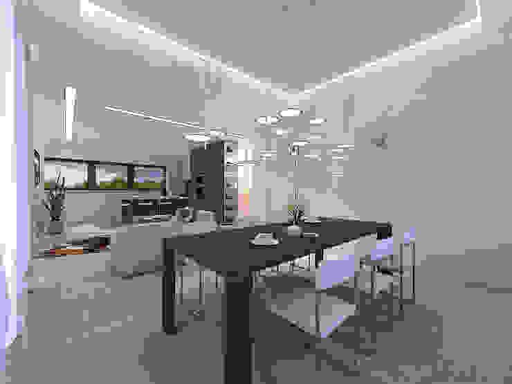 Minimalistische Esszimmer von A-partmentdesign studio Minimalistisch Holzwerkstoff Transparent