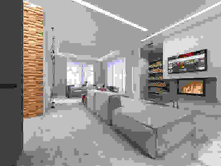 Minimalistische Wohnzimmer von A-partmentdesign studio Minimalistisch Holzwerkstoff Transparent
