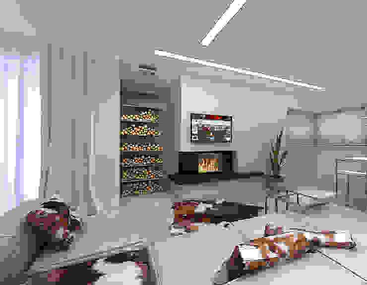 Дизайн интерьера гостиной. Шкуры на пол! Гостиная в стиле минимализм от A-partmentdesign studio Минимализм Изделия из древесины Прозрачный