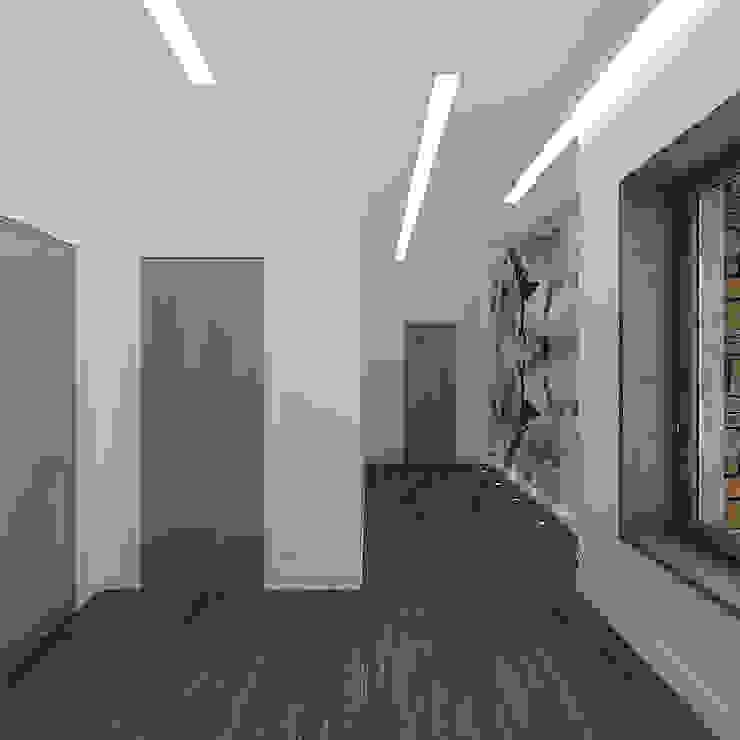 Minimalistischer Flur, Diele & Treppenhaus von A-partmentdesign studio Minimalistisch Holzwerkstoff Transparent