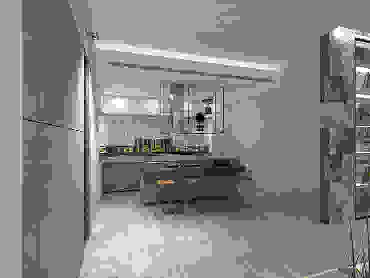 Minimalistische Küchen von A-partmentdesign studio Minimalistisch Fliesen