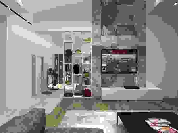 Minimalistischer Multimedia-Raum von A-partmentdesign studio Minimalistisch MDF