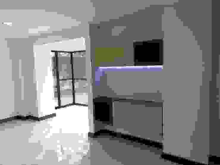REMODELACION APTO 101 CR TORRES DEL PRADO Salas modernas de ARQUITECTONI-K Diseño + Construcción SAS Moderno