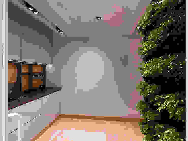 Pasillos, halls y escaleras minimalistas de A-partmentdesign studio Minimalista Azulejos