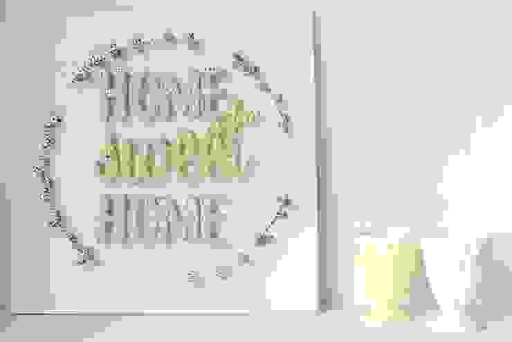 MINTIWALL STRING ART WALL DECOR  – Home Sweet Home Sign Wall Decor: modern tarz , Modern Ahşap Ahşap rengi