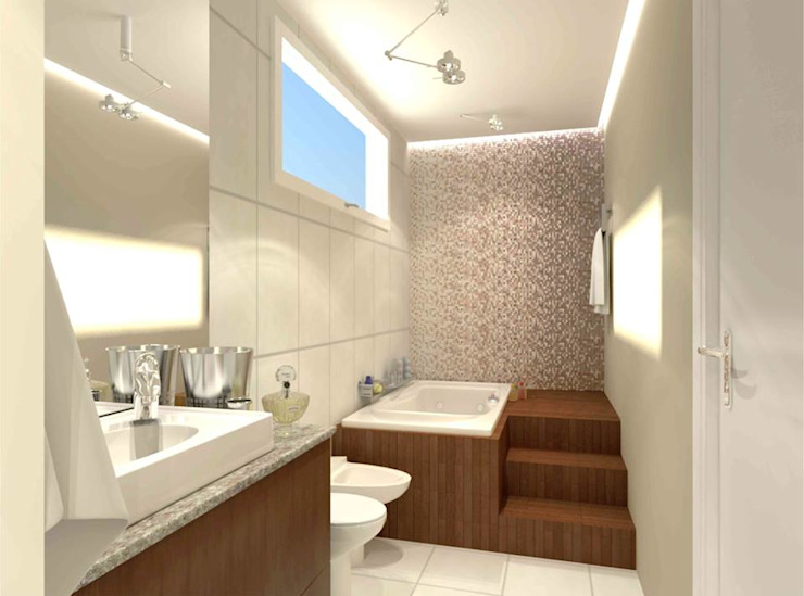Guina Arquitetura Modern bathroom Tiles