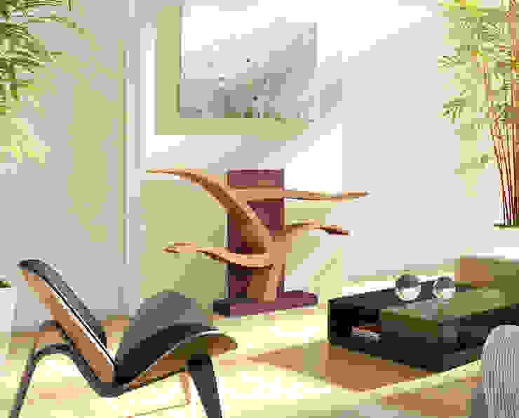 в современный. Автор – BOIS MEUBLE CREATION, Модерн Твердая древесина Многоцветный