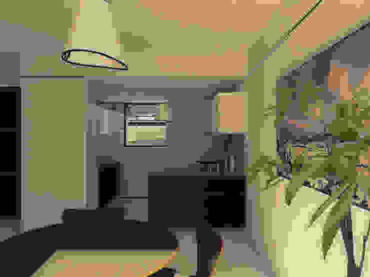 Vivienda Patio Cocinas modernas: Ideas, imágenes y decoración de LK ESTUDIO Moderno