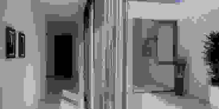 Vivienda Patio Pasillos, vestíbulos y escaleras modernos de LK ESTUDIO Moderno