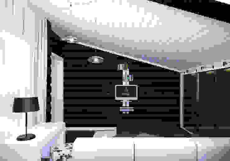 Scandinavian style bedroom by A-partmentdesign studio Scandinavian Engineered Wood Transparent