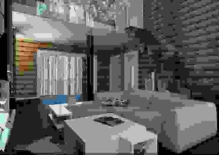 Scandinavian style living room by A-partmentdesign studio Scandinavian Wood Wood effect