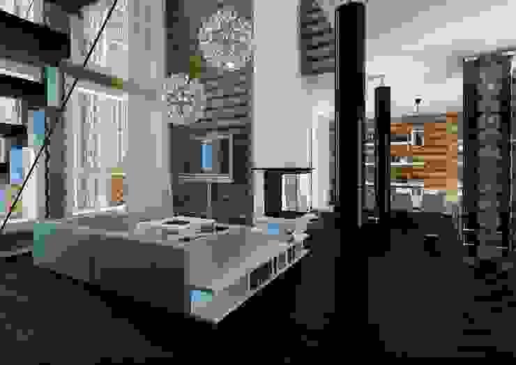 Scandinavian style living room by A-partmentdesign studio Scandinavian Engineered Wood Transparent