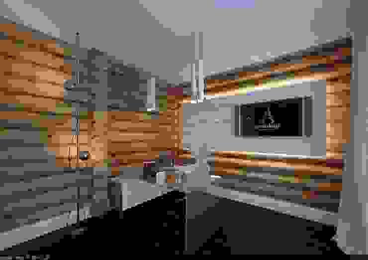 Estudios y despachos de estilo escandinavo de A-partmentdesign studio Escandinavo Madera Acabado en madera