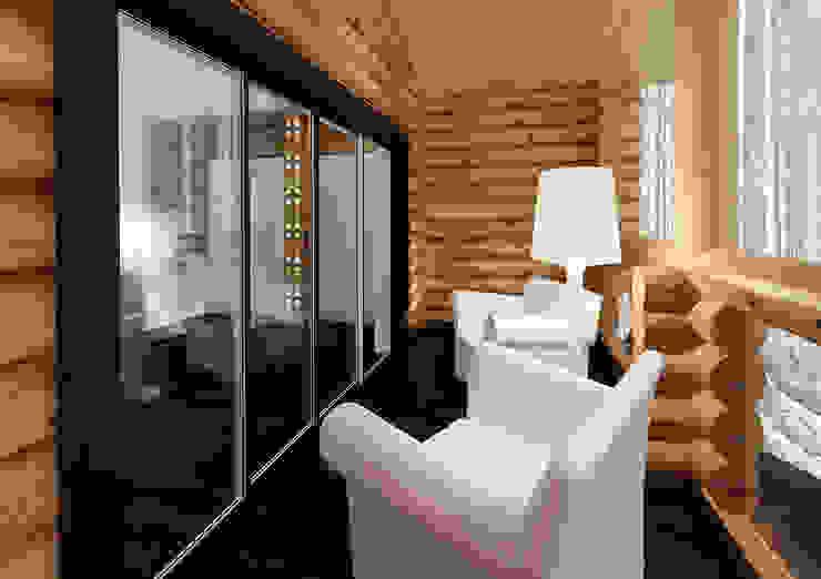 Предметы мебели в интерьере балкона. Стиль шале Балкон в скандинавском стиле от A-partmentdesign studio Скандинавский Дерево Эффект древесины