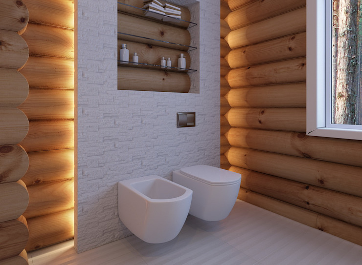 Scandinavian style bathroom by A-partmentdesign studio Scandinavian Ceramic
