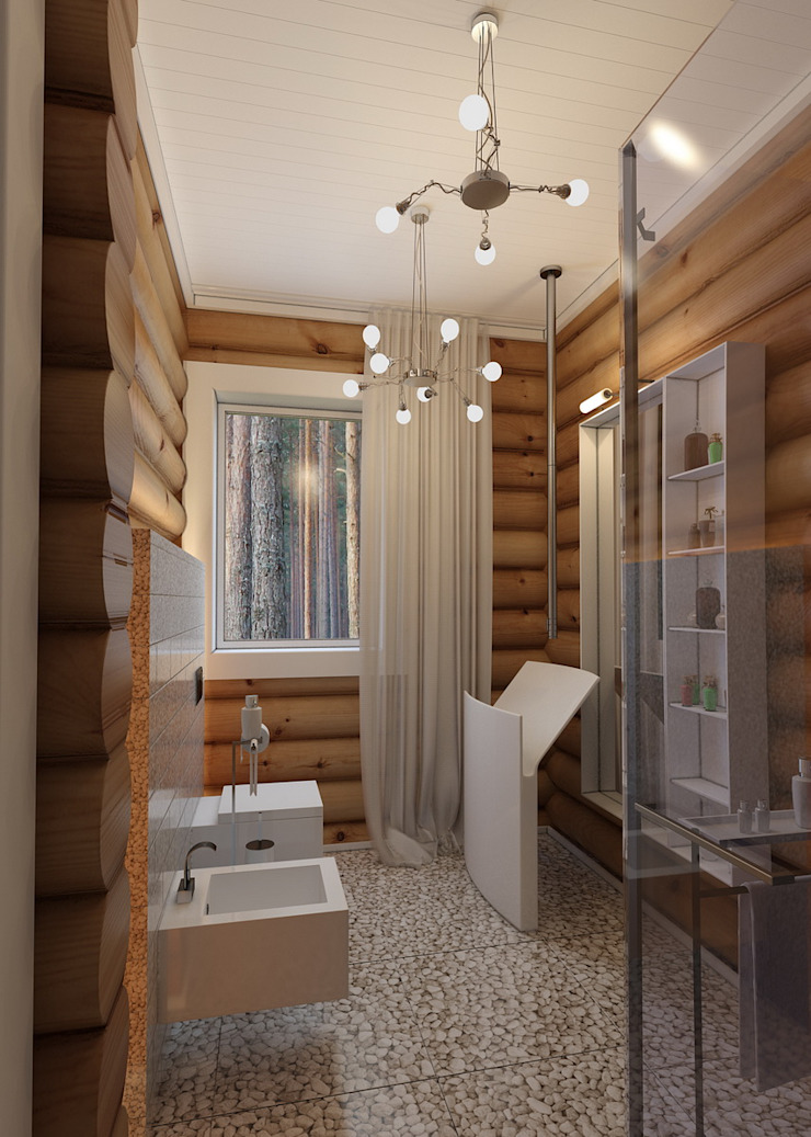 Scandinavian style bathroom by A-partmentdesign studio Scandinavian Wood Wood effect