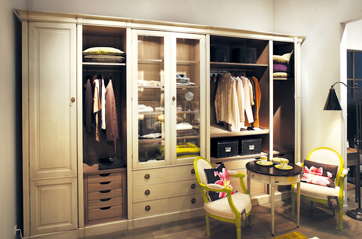 Grange México Modern dressing room Solid Wood White