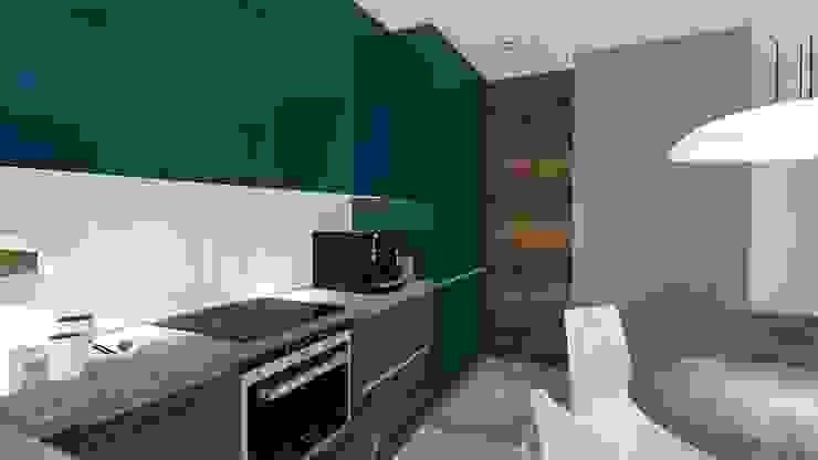 現代廚房設計點子、靈感&圖片 根據 Justyna Kurtz 現代風