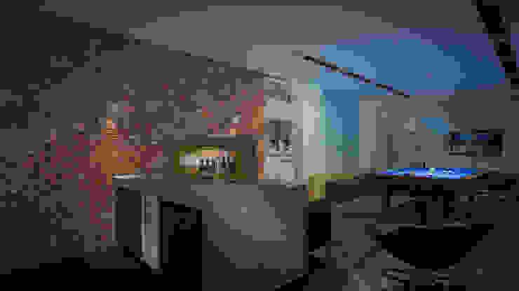 Gameroom Nowoczesny pokój multimedialny od Justyna Kurtz Nowoczesny