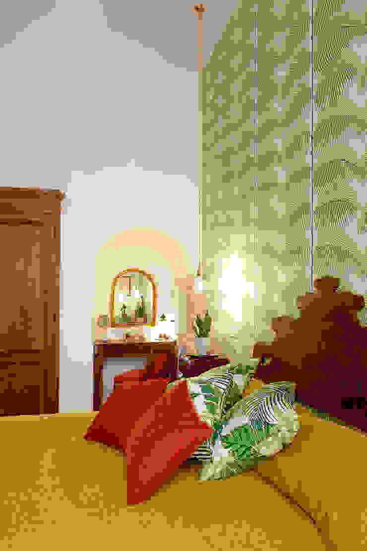 Tania Mariani Architecture & Interiors Kamar Tidur Gaya Eklektik Bambu Green