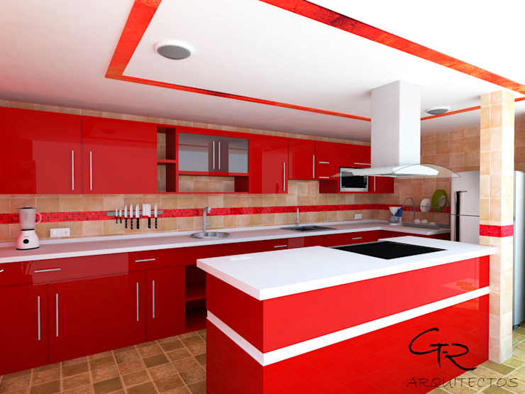Nowoczesna kuchnia od GT-R Arquitectos Nowoczesny