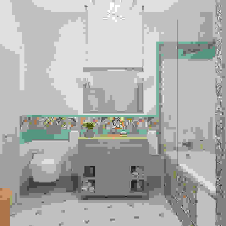 Mediterranean style bathrooms by Студия дизайна Дарьи Одарюк Mediterranean