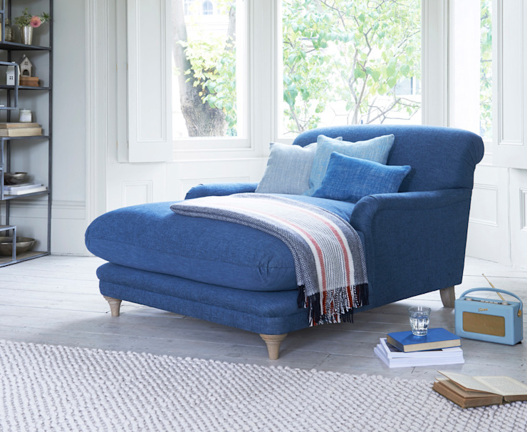 Pudding love seat chaise de Loaf Clásico Lino Rosa