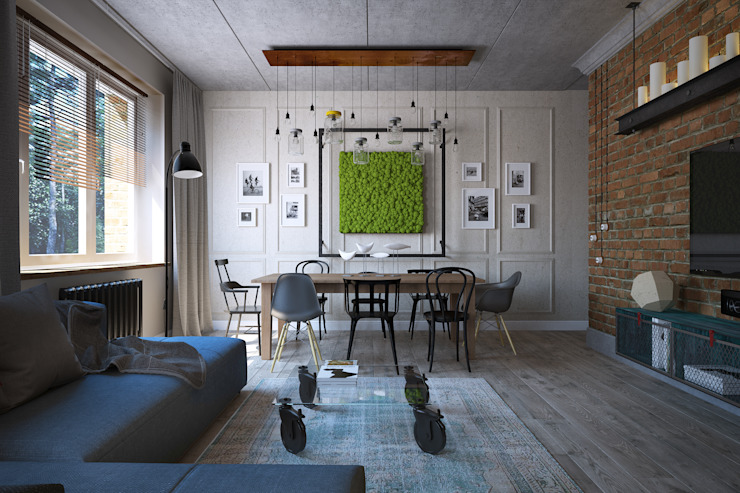 Industrial style living room by Студия Семена Вишнякова '1618 ROOM' Industrial