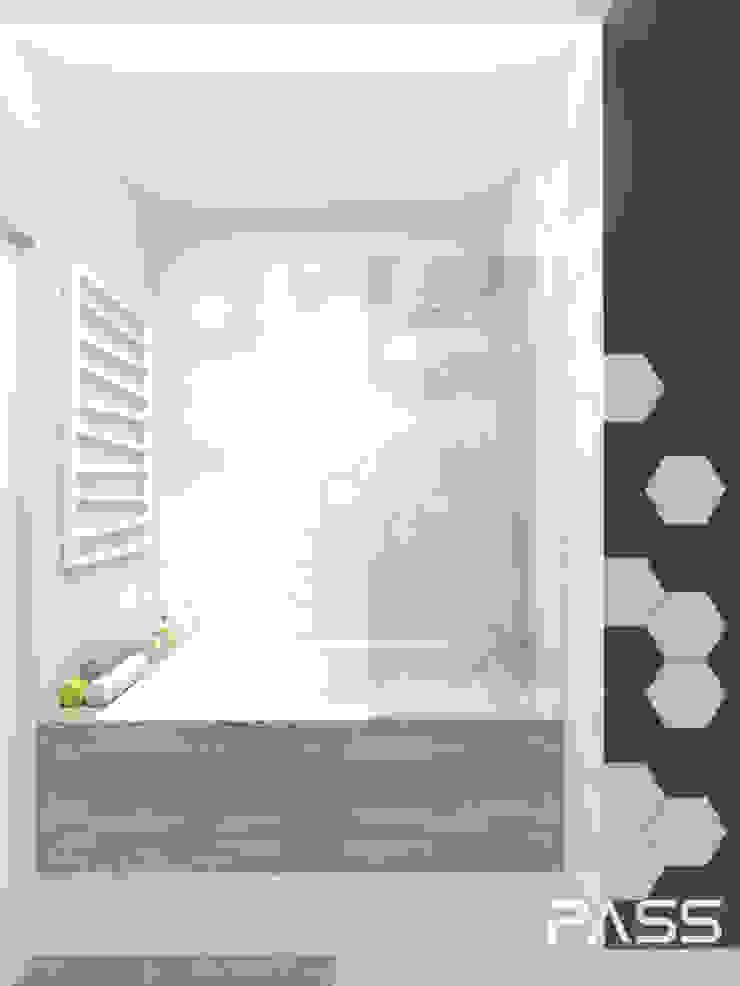 PROJEKT WNĘTRZA W WARSZAWIE / 2 Skandynawska łazienka od PASS architekci Skandynawski