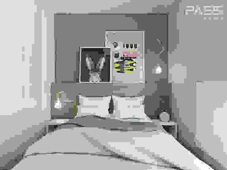 Спальня в скандинавском стиле от PASS architekci Скандинавский