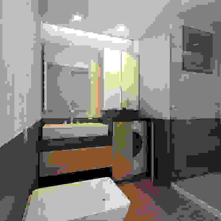 MİNERVA MİMARLIK – Banyo: modern tarz , Modern Seramik